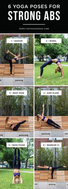 6 Yoga Poses for Strong Abs | If your New Year's resolution is to get in shape, these 6 exercises are a great place start! This workout routine is easy to do at home and requires no equipment! Home gym, here I come...