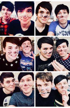 Dan and Phil lock screen- PINOF through the years