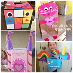 Here are a bunch of valentines day mailboxes for kids to make! Girls will love all these ideas for their classroom parties!