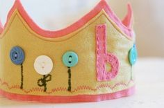 Felt birthday crowns!