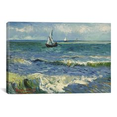 iCanvas 'Seascape Near Les Saintes Maries De La Mer' by Vincent Van Gogh…