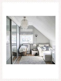 modernes schlafzimmer jugendliche junge dachschräge weiß grau ...