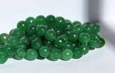 Half Strand 8mm Faceted Green Jade Gemstone Beads - 23 beads by RainandSnowBeading on Etsy