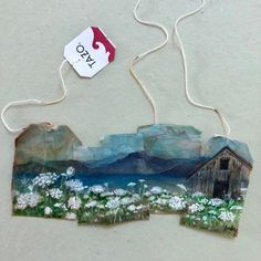 ruby silvious art — 363 days of tea. Tea Bag Art, Tea Art, Collages, Used Tea Bags, Monster Illustration, Recycled Art, Mail Art, Watercolor Paintings, Watercolors