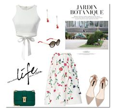 """Day look!"" by tatajrj ❤ liked on Polyvore featuring мода, Monique Lhuillier, Valentino и Gucci"