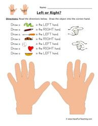 left or right worksheet 2