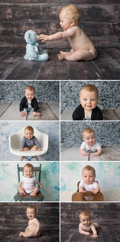 6 month old Damian and his super cute sitting stage milestone session in studio. Sunny S-H Photography Winnipeg