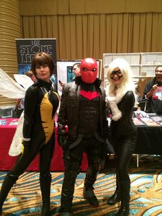 LBCE long beach comic expo 2014 #cosplay   #LBCE  #cosplay #wasp #blackcat #costume #jodipayneart #comic #comicconventions #marvel