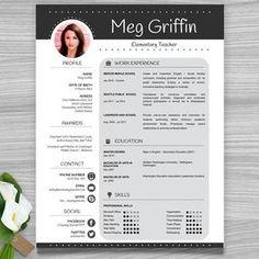 Teacher Resume Template  Sleek Gray And White  Teacher Resume