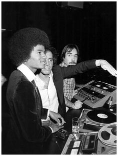 Michael Jackson and Steve Rubell in the DJ Booth at Studio 54, 1977 | Photo: Russel C. Turiak