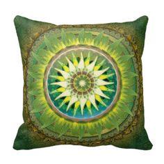 Travesseiro do verde da mandala