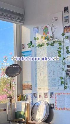 Indie Room Decor, Indie Bedroom, Cute Bedroom Decor, Room Design Bedroom, Room Ideas Bedroom, Bedroom Ideas For Teens, Bedroom Inspo, Chambre Indie, Pinterest Room Decor