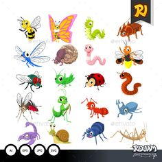 cartoon bugs clip art cute cartoon insects vector vector rh pinterest com cartoon insects vector cartoon insects pictures