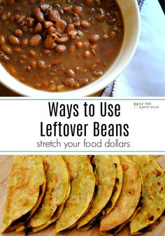 Searching for ways to use leftover beans? Put those beans to good use and transform them into another delicious meal. You& cooked a delicious batch of crockpot pinto beans and now you have a ton leftover! Maybe you feel like you Recipe Using Pinto Beans, Recipes Using Beans, Pinto Bean Recipes, Recipes With Leftover Beans, Mexican Food Recipes, Whole Food Recipes, Vegetarian Recipes, Cooking Recipes, Healthy Recipes