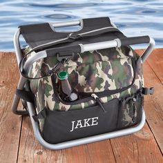 Camouflage Sit n' Sip Cooler Seat - perfect for hunting, fishing, or tailgating!