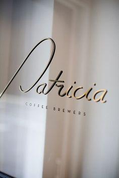 Typography(Patricia Coffee Brewers on Little William Street, Melbourne Australia, via fullfontal) — Designspiration Typography Letters, Typography Logo, Typography Design, Hand Lettering, Logo Design, Type Design, Ad Design, Wayfinding Signage, Signage Design