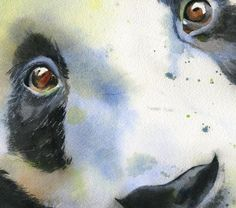 panda watercolor | Details about Giclée Panda Asian Wildlife Zoo Watercolor Painting Art