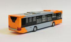Lego City Bus, Lego Bus, Lego Tree, Lego Village, Transporter Van, Lego Display, Micro Lego, Fireman Sam, Amazing Lego Creations