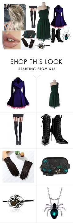 """""""Modern Female Alois Trancy"""" by morfeoandpan ❤ liked on Polyvore featuring WithChic, J.Crew, Pretty Polly, Giuseppe Zanotti, Coach and modern"""