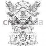 Ref.: BQU07 - Águias. Desenho para download no site www.criamoda.com.br