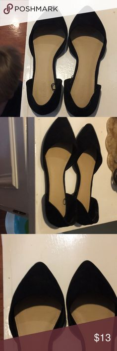 Forever 21 flats Black faux suede Forever 21 flats Forever 21 Shoes Flats & Loafers