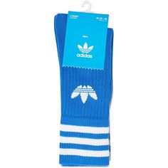 9e4cd316900 2 Pack Solid Crew Socks by Adidas ( 5.34) ❤ liked on Polyvore featuring  intimates