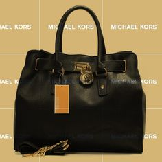 Hurry Up To Buy Michael Kors Hamilton Large Black Totes For Your Love Girl Friend?
