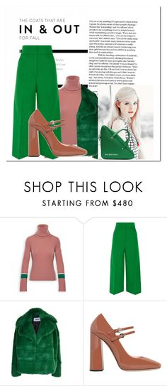"""""""Green Day"""" by muhammadtanim ❤ liked on Polyvore featuring Moncler, Marni, MSGM, Rochas and Balenciaga"""