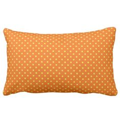 "'Mod Accents"" Orange/Yel/Polka Dots Throw Pillow #pillows #modern #dots"