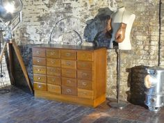 Antique timber drawers
