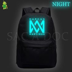 New Arrival 2019 Marcus Martinus Backpack light neon Hip Hop Girl, Shoulder Bags For School, Kids Bags, Kids Backpacks, Neon, Martinis, Hoodies, Style, Gift