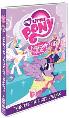 My Little Pony: Friendship Is Magic - Box Art for 'April' Release.Which is Actually 'Princess Twilight Sparkle' My Little Pony Dvd, My Little Pony Princess, My Little Pony Friendship, Hasbro Studios, Princess Twilight Sparkle, Princess Celestia, Box Art, Kids Playing, Giveaways