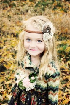 Flower girl: Lace and Flower Vintage Headband Brown and by KrumpetsDesigns
