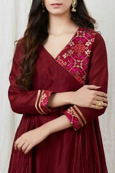 Salwar Designs, Simple Kurti Designs, Kurta Designs Women, Kurti Designs Party Wear, Neckline Designs, Dress Neck Designs, Stylish Dress Designs, Blouse Designs, Chudithar Neck Designs