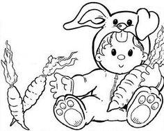 Petit lapin coloriage