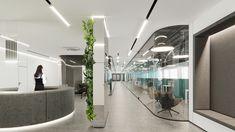 MONOLIT on Behance Open Office Design, Open Space Office, Corian Top, Free Space, Office Interiors, Reception, Behance, Mirror, Royal Navy