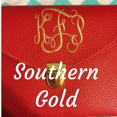 Monogram Clutches by SouthernGoldBoutique on Etsy, $28.99