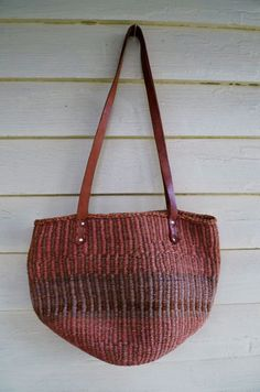 basket weave bucket purse