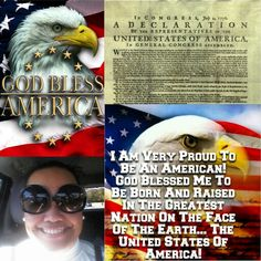 Happy 238th Birthday To The Greatest Nation On The Face Of The Earth... The United States Of America! ❤ I'm Very Proud To Be Born & Raised In America! ❤ USA Every Single Day BAE BAE! ❤ All The Other Countries Can Bow! ❤ God Bless America! ❤ #USA #America #American #4thOfJuly #IndependenceDay #ProudToBeAmerican #ProudToBeAnAmerican #HappyBirthday #Happy4ThOfJuly #ProudAmerican #AmericanPride
