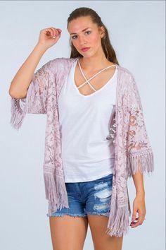 9a8930ce6b09 Flapper Fringe Kimono - FINAL SALE