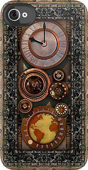 iPhone - Elegant Steampunk Timepiece by Steve Crompton