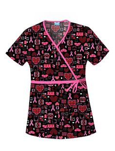 5392cd5ae97 Cherokee Scrub HQ Caring For The Cause Mock Wrap Top Buy Scrubs, Wrap Style,