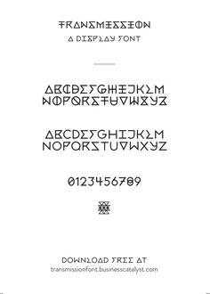 Transmission Regular - Free Font on Typography Served