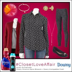 This Exotic Enchantress look was inspired by Downy Infusions Spice Blossoms and Downy Unstopables Fresh. Incorporating mixed prints and a splash of glam, this look will inspire you to push the boundaries. To shop this look, visit the LC Lauren Conrad collection available only at Kohl's. To register for the #ClosetLoveAffair sweepstakes visit https://downy.promo.eprize.com/pinterest/.