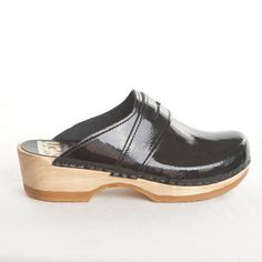 Penny Loafer Clog Black Patent   now featured on Fab.com Only $97.00