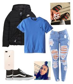 """Untitled #382"" by stylemaster03 on Polyvore featuring NIKE and Vans"