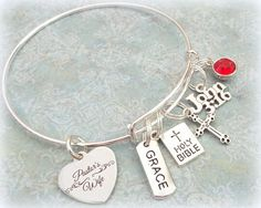 Pastors Wife Charm Bracelet, Gift for Pastor's Wife, Personalized Christian Jewelry, Personalized Gift for Women, Minister's Wife Gift Gifts For Pastors, Pastors Wife, Gifts For Wife, Pastor Appreciation Ideas, Christian Jewelry, Party Ideas, Gift Ideas, Esty, Bake Sale