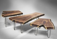 Luxury Vista Wood And Metal Nesting Coffee Table For Wood Table