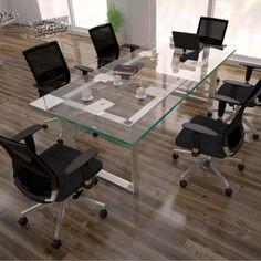 Sala de reuniones. Mesa Reunión Linea ZEN Archivos Activos. oficinas modernas equipamiento y ambientación.