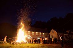 Maine Wedding - bonfire!